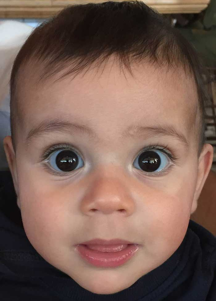 Noam with big eyes