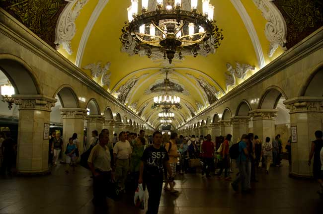 A Moskva Subway Station