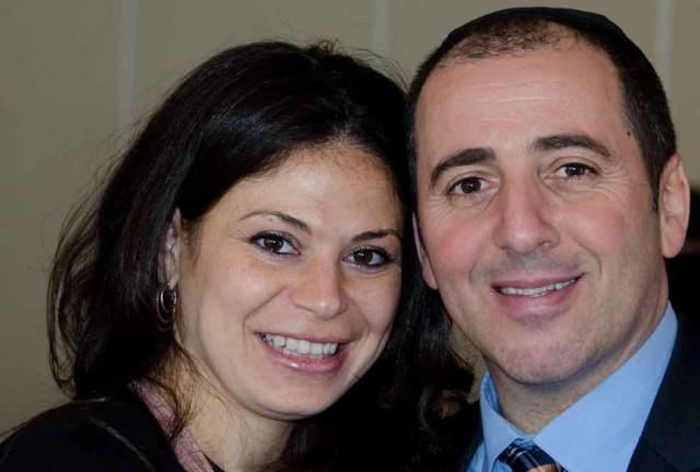 The extremely happy couple Ruth and Isaac Bendayan on the day of the Bris of Asher Mesod Bendayan